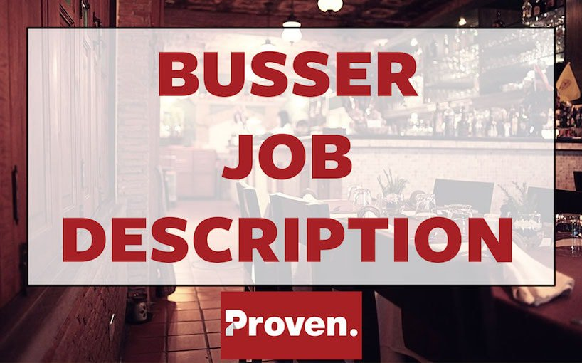 Busser Job Description
