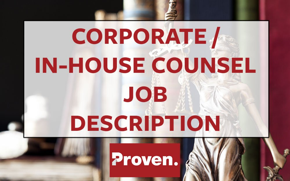 Corporate / In-house Counsel Job Description