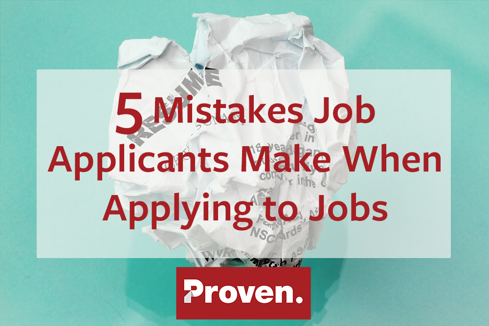 mistakes job applicants make