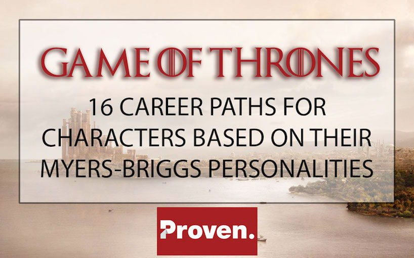 Game of Thrones Careers based on Myers-Briggs