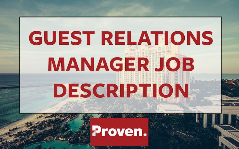 Guest Relations Manager Job Description