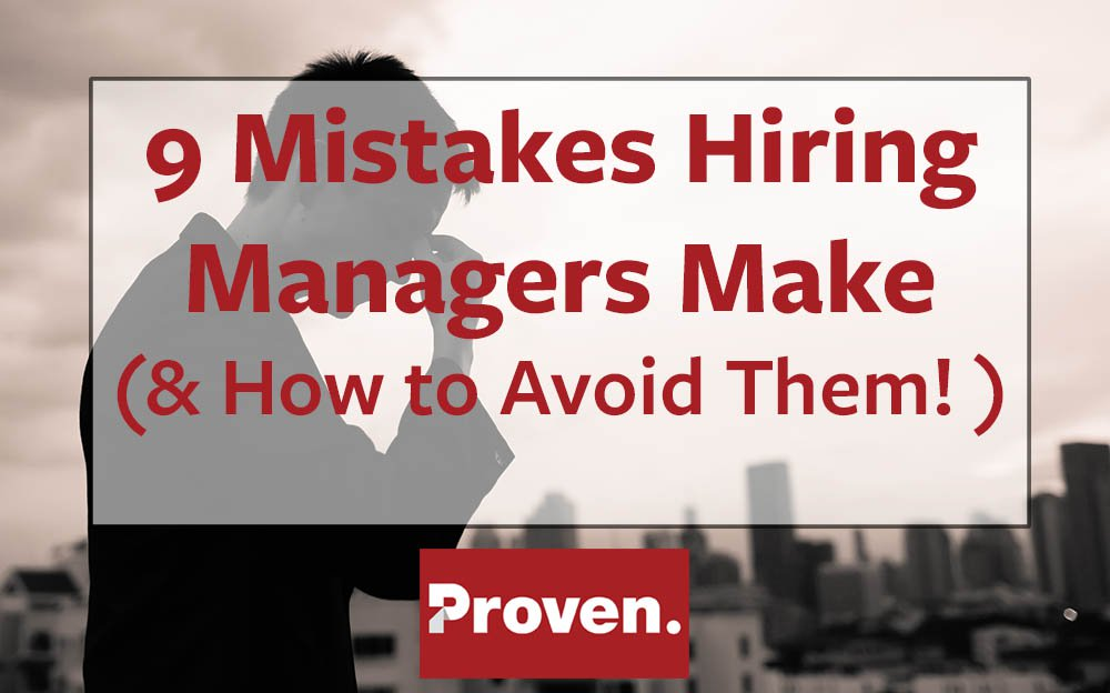 Hiring Manager Mistakes