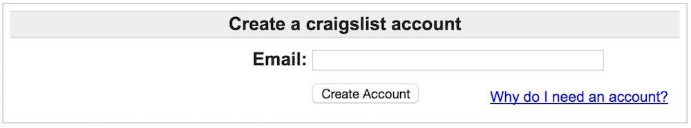 Create Craigslist Account