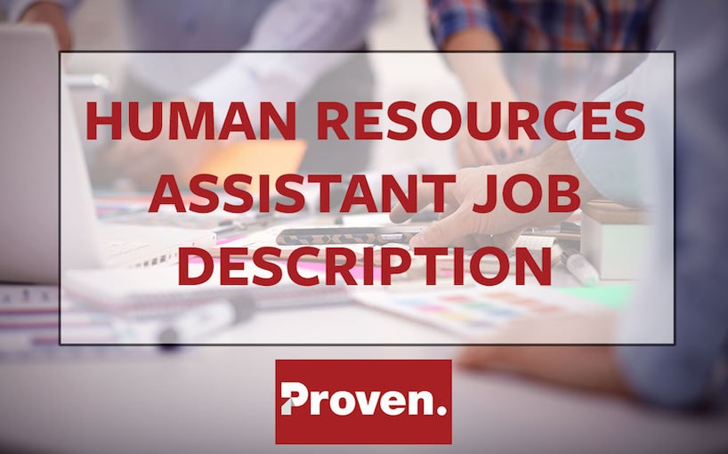Human Resources Assistant Job Description