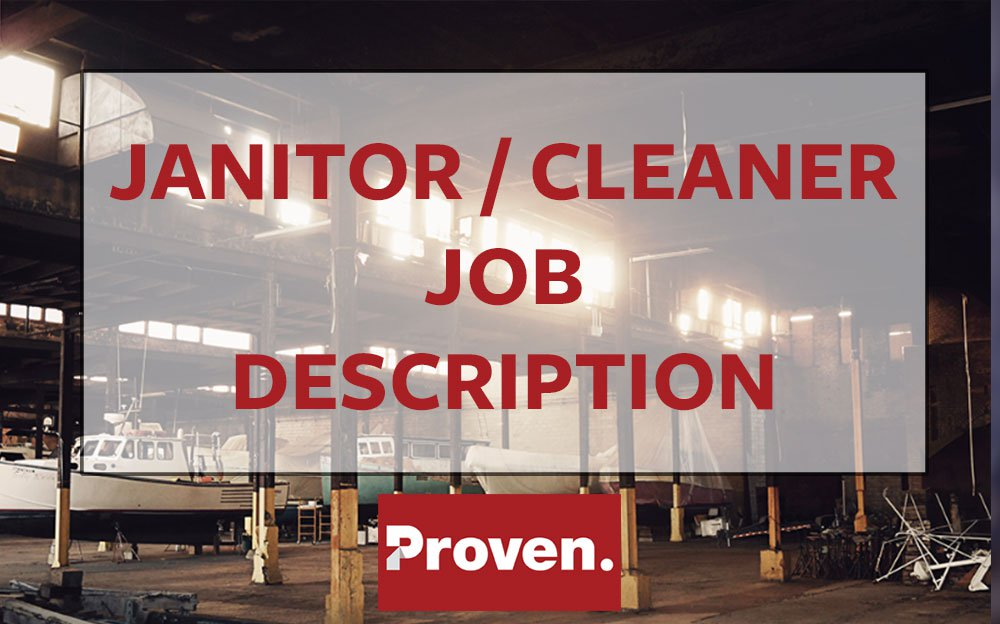 The Perfect Janitor Job Description The Perfect