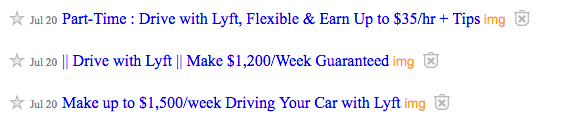 Lyft Wage Example