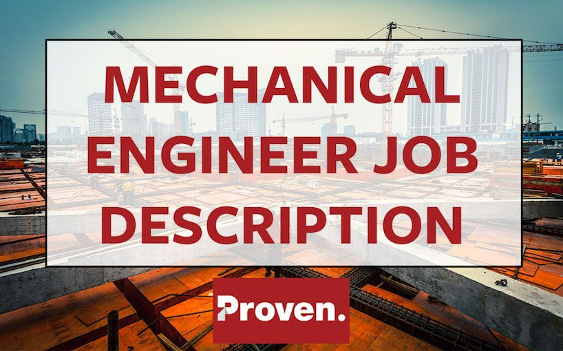 Mechanical Engineer Job Description