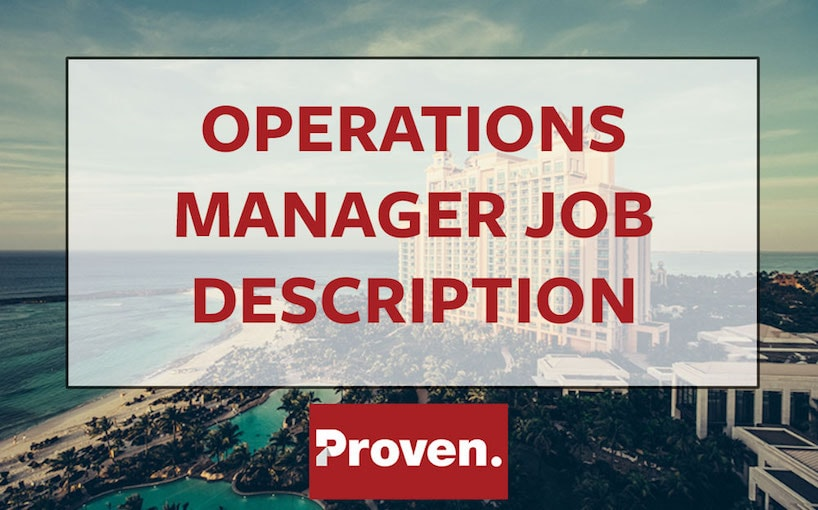 Operations Manager Job Description