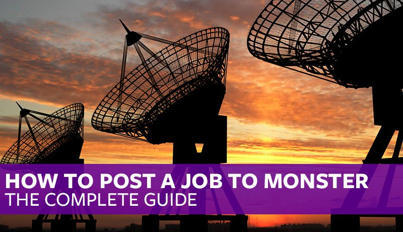 How To Post A job To Monster.com