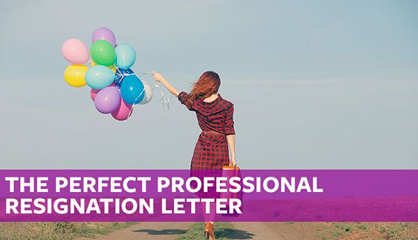 the perfect professional resignation letter free sample template