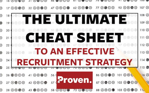The Ultimate Cheat Sheet to an Effective Recruitment Strategy