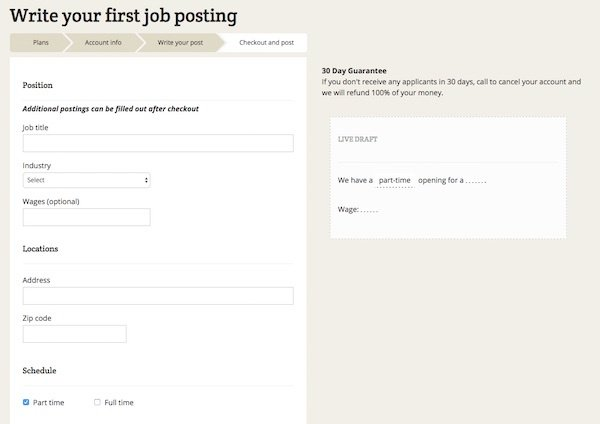 Write Your Job Post