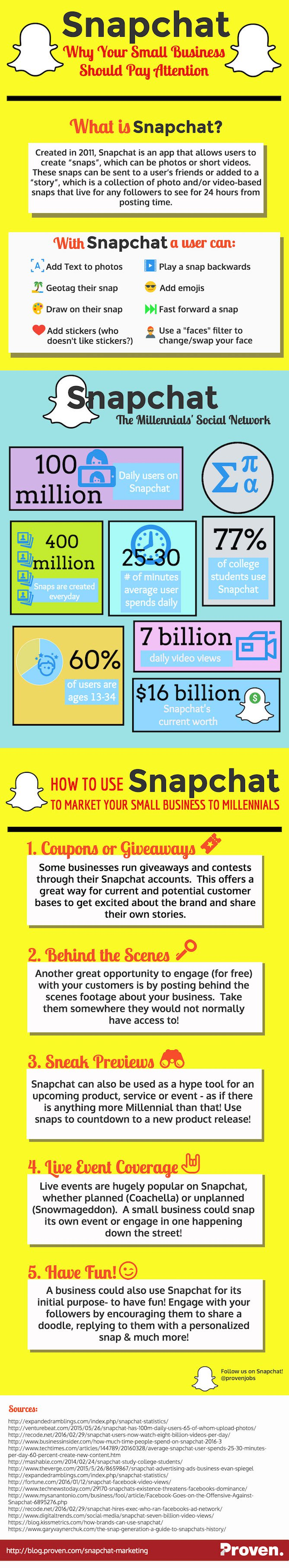 Snapchat Marketing Small Business Infographic