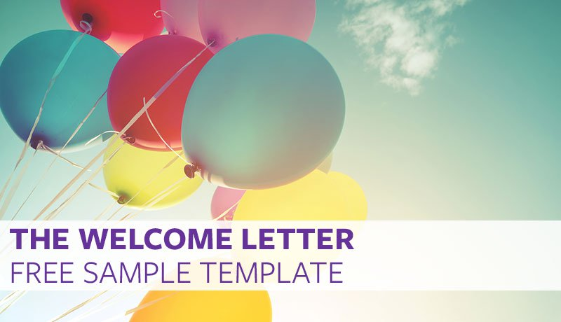 The welcome letter free sample template proven welcome letter template spiritdancerdesigns Choice Image
